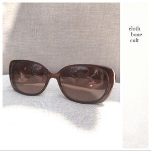 TED BAKER Semi-Cat Eye Tortoise Shell SUNGLASSES